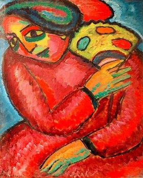 Alexej von Jawlensky: Tanz mit gelbem Fächer, 1912