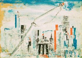 Wilhelm Thöny: New York, Manhattan mit Kran