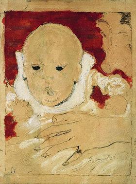 Pierre Bonnard: Andrée Bonnard mit ihrem Sohn Jean Terrasse