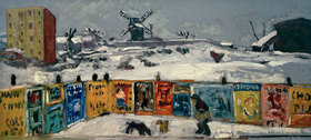 Pierre Bonnard: Palisade, les affiches, Montmartre