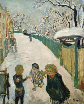 Pierre Bonnard: Children Playing in the Snow / The Street