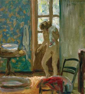 Pierre Bonnard: Bei der Toilette. Akt mit Handtuch