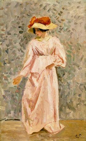 Camille Pissarro: Portrait of Jeanne in a Pink Dress