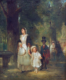 Ludwig Knaus: Spaziergang im Tuileriengarten