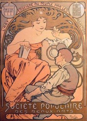 Alfons Mucha: A.Mucha, Société Populaire des Beaux-A