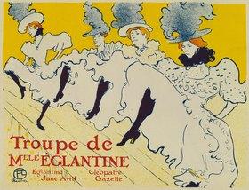 Henri de Toulouse-Lautrec: Troupe de Mlle. Eglantine