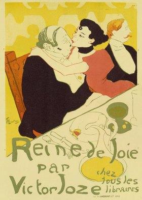 """Henri de Toulouse-Lautrec: Poster for the novel """"Reine de Joie, Moeurs du Demi Monde"""""""