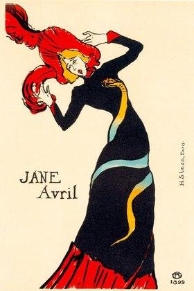 Henri de Toulouse-Lautrec: Plakat für die Tänzerin Jane Avril