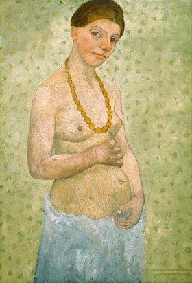 Paula Modersohn-Becker: self portrait on 6th wedding anniversary