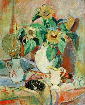 Oskar Moll: Stilleben mit Sonnenblumen
