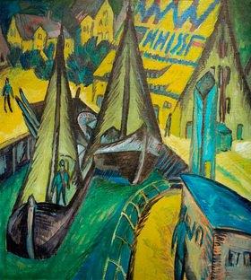 Ernst Ludwig Kirchner: Hafen von Burgstaaken