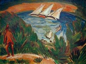 Ernst Ludwig Kirchner: Segelboote im Sturm