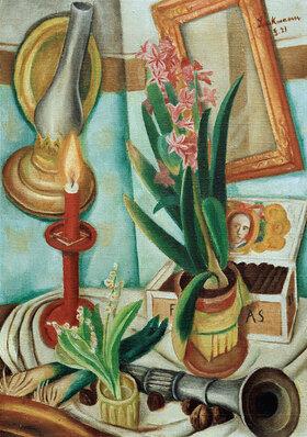 Max Beckmann: Stilleben mit brennender Kerze