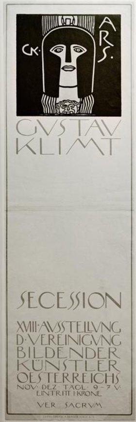 Gustav Klimt: Plakat für die 'XVIII. Ausstellung der Secession…