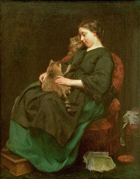 Ludwig Knaus: Die Katzenmutter