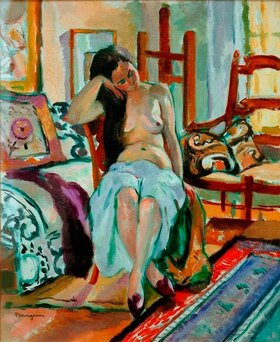 Henri Manguin: Frauenakt in einem Interieur