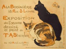 Théophile-Alexandre Steinlen: A la Bodinière, Exposition de l'oeuvre de T.A.Steinlen