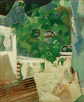 Oskar Moll: Landschaft mit weißer Terrasse