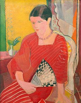 Oskar Moll: Brigitte in a red dress