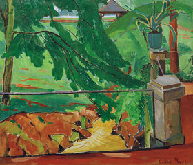 Oskar Moll: Garten in Hattenheim