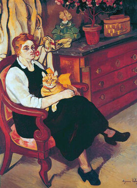Suzanne Valadon: Bildnis der Haushälterin Miss Lily Walton mit Kater Raminou