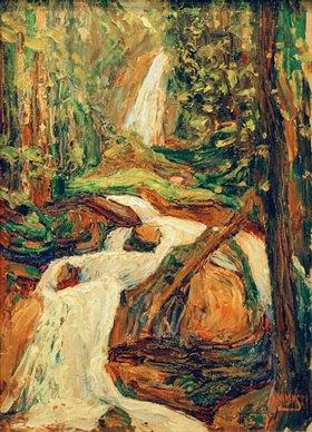 Wassily Kandinsky: Kochel, Wasserfall I