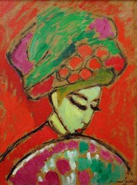 Alexej von Jawlensky: Girl with flower hat