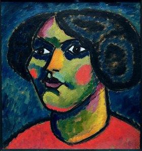 Alexej von Jawlensky: Kopf mit Augenweiß