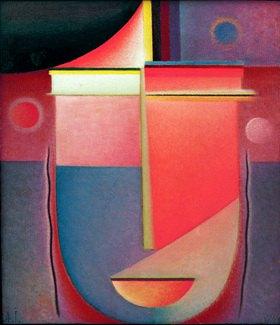Alexej von Jawlensky: Abstrakter Kopf: Inneres Schauen -Rosiges Licht, 1926, N.7