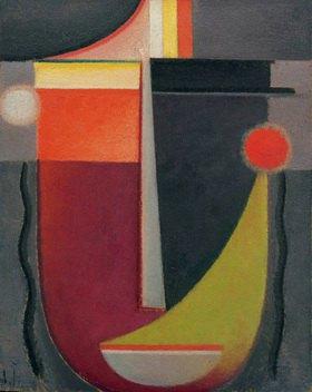 Alexej von Jawlensky: Abstrakter Kopf: Erloschene Glut, 1927, N