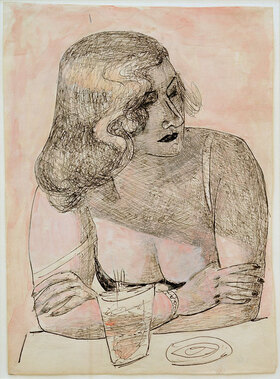 Max Beckmann: Junge Frau mit Glas