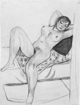 Max Beckmann: Liegender weiblicher Akt