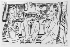 Max Beckmann: In der Trambahn