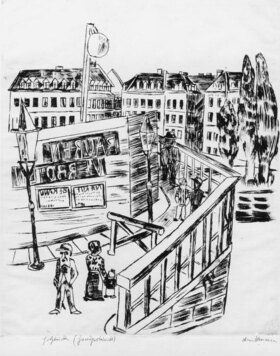 Max Beckmann: Holzbrücke