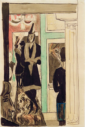 Max Beckmann: Cafe (Telefon)