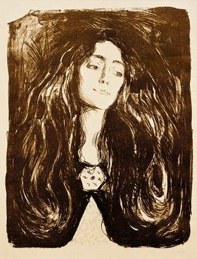 Edvard Munch: Die Brosche, Eva Mudocci