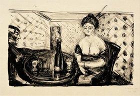 "Edvard Munch: Bordellszene,""Zum süßen Mädel"""