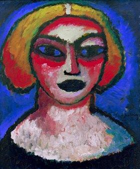 Alexej von Jawlensky: Frauenkopf