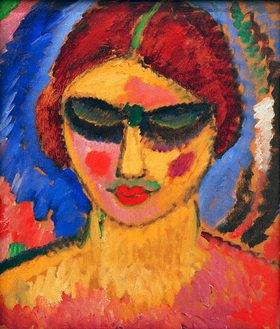 Alexej von Jawlensky: Mädchen mit niedergeschlagenen Augen