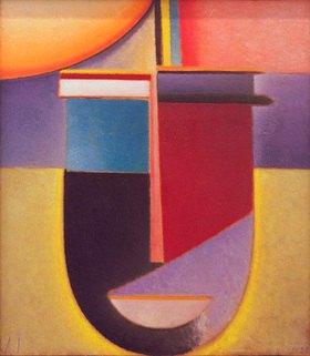 Alexej von Jawlensky: Abstrakter Kopf: Sonne - Farbe - Leben, 1926, N