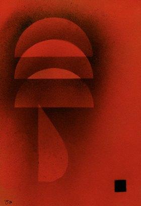 Wassily Kandinsky: Gedämpfte Glut, 1928.