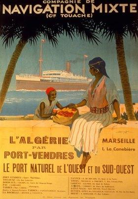 Schiffsreise nach Algerien / Plakat
