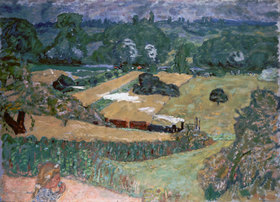 Pierre Bonnard: Landscape with freight train