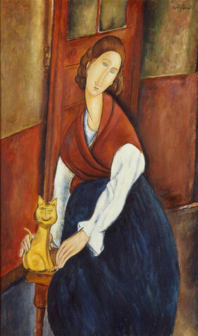 Amadeo Modigliani: Portrait  von Jeanne Hebuterne