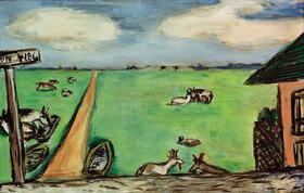 Max Beckmann: Grüne Wiese mit Kühen