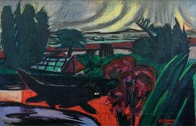Max Beckmann: Abendlicher Garten im Gewitter