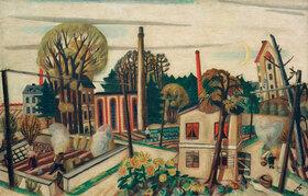 Max Beckmann: Landschaft bei Frankfurt, mit Fabrik