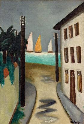 Max Beckmann: Kleine Landschaft. Viareggio