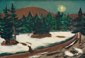 Max Beckmann: Mondlandschaft im Gebirge mit Schnee