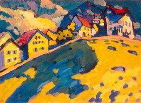 Wassily Kandinsky: Studie für Häuser am Hügel